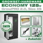 Set, Growbox, 125 Watt Lampe,