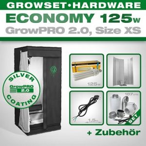 Set, Growbox, 125 Watt Lampe,